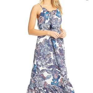 1. STATE Crystal Flowers Print Maxi Dress Size S